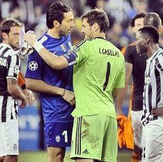 Iker Casillas and Gigi Buffon  Real Madrid vs Juventus  Champions league