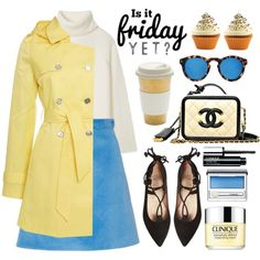 Is it friday yet? by alaria on Polyvore featuring Tory Burch, Lauren Ralph Lauren, Carven, French Sole FS/NY, Illesteva, Clinique, Lékué, women's clothing, women's fashion and women