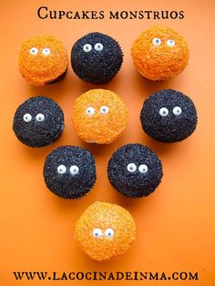Cupcakes Monstruos / Halloween monsters cupcakes