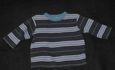 The Children's Place TCP Blue Stripe Sweater Baby Boys 12-18 Months~    Tight knit sweater with wide and narrow stripes. Two shades of blue, red and white stripes. So warm and cozy!   Tag says 18 Months, which in TCP clothing covers 12-18 Months, but my son wore them until 24 months.     #teamsellit