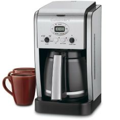 The Cuisinart Brew Central 14 cup programmable coffee maker has programmable features to please any coffee lover. Coffee Brewer, Coffee Cups, Hot Coffee, Best Drip Coffee Maker, Charcoal Water Filter, Coffee Maker Reviews, Best Espresso, Great Coffee, Espresso Machine