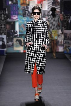 Tracy Reese fall '12 black & white check coat