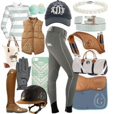 I don't really like the boots and forget the jewelry and bags, but adorable riding outfit!!!