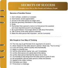 "Dale Carnegie book  ""How to Win Friends and Influence People"""