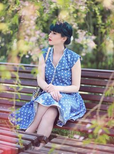 Retro Style, Retro Fashion, Vintage Style, 50s, 40s, Retro Look, Vintage Lovers, green hair,  Fashion, Retro Dress