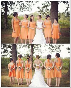 Orange and Green Rustic Wedding| Photo: chelseanphotography.com/ and Abby Leighanne Photography