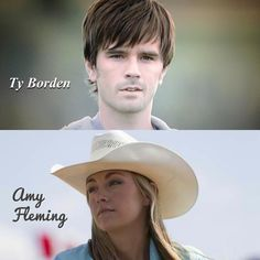 Ty Borden & Amy Fleming Best Tv Shows, Best Shows Ever, Watch Heartland, Ty Borden, Heartland Ranch, Dr Quinn, Ty And Amy, Amber Marshall, Cowboy And Cowgirl