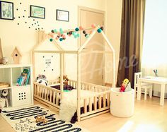 frame bed twin children bed play tent house bed toddler bed floor bed baby room nursery crib home bed pikler baby bed teepee fence slats