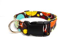 Colorful Planet Adjustable Dog Collar  1 by MuttsandMittens