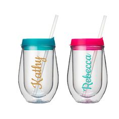 Personalized Wine Tumbler - Bridal Party - Girls Weekend - Personalized Wine Cup - Girls Weekend - Birthday Gift Ideas - Bachelorette by PinkPoshCo on Etsy https://www.etsy.com/listing/266621431/personalized-wine-tumbler-bridal-party