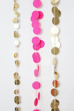 Polka Dot garlands...would be an easy DIY project