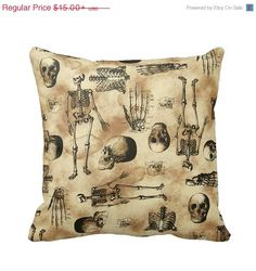 ON SALE Anatomy Skeleton Day of the Dead by PrimalVogueHomeDecor