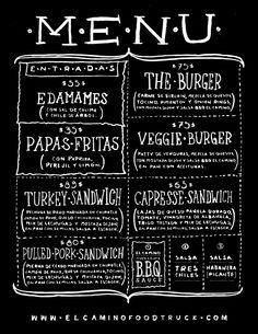 Menu board idea - love having a full description of each sandwich
