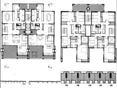Les Escales Park duplex floors _ Josep Lluís Sert _ Barcelona _ Facade cubes