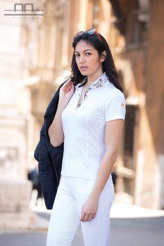 AA Platinum Collection S/S16: Elisa Short Sleeve Lady Bamboo Polo | Arianna Superlight Jacket