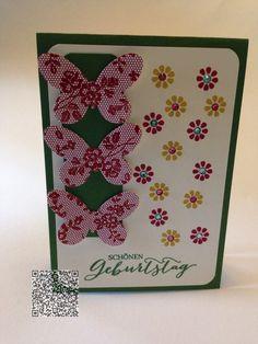 Stampin´UP! jennys_Stempelwelt Grußkarte zum Geburtstag mit dem Schmetterlingsgruß