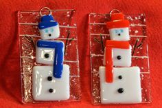 Yes, holidays are coming fast. Just added to my Etsy shop! www.Etsy.com/shop/TEN36Designs Holiday Christmas Ornament Fused Glass Snowman by TEN36Designs $15.95 #TEN36Designs