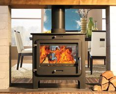 Ekol Clarity Double-Sided - Double-Sided Stoves Woodburning Stoves, Multifuel Stoves, Log Burners, Cast Iron Stoves, Wood Burners, Chimney Flue Pipe, UK + Europe Delivery