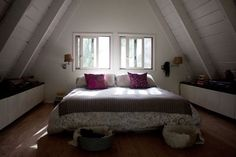 Pretty A-Frame Bedroom // photo by Anne-Clare Roché
