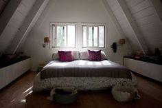 Pretty A-Frame Bedroom // photo by Anne-Clare Roché