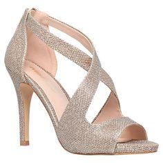 Buy Miss KG Shae Occasion Stiletto Heeled Sandals, Gold Online at johnlewis.com