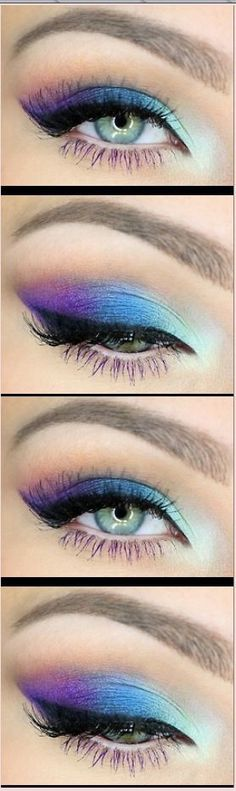 Blue and purple eyeshadow:
