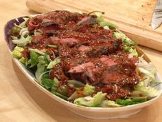 Rachel Ray Sliced Steak Salad with Bloody Mary Vinaigrette #Paleo