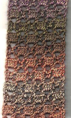 Bricks & Lattice Scarf - free crochet pattern plus YouTube video by Elizabeth Ham