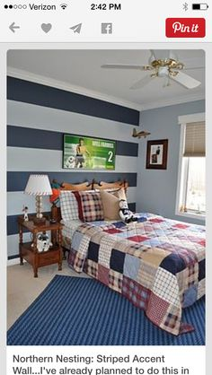 Bon The Chic Technique: Northern Nesting: Striped Accent Wall.Iu0027ve Already  Planned To Do This In My Boys Room, Even Got The Paint!
