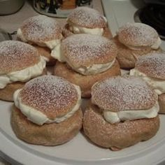 These Swedish marzipan and whipped cream filled cardamom buns are traditionally served on Fat Tuesday. Nowadays they are happily eaten as often as they can be found. We love that these are not too sweet, and are just big enough.