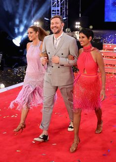 Louise Redknapp, Will Young and Naga Munchetty arrive for the launch of 'Strictly Come Dancing 2016' at Elstree Studios on August 30, 2016 in Borehamwood, England.