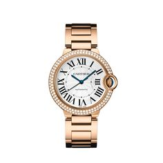Ballon Bleu de Cartier watch, 36 mm  Pink Gold & Diamond