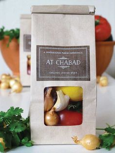 Packaged Guacamole Fixings #purim #packaging #labels #gift SHOP labels: http://www.evermine.com/all_labels/SPVM06/
