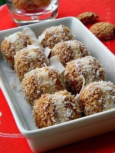 AMARETTI CU MASCARPONE SI COCOS | Rețete Fel de Fel Baking Recipes, Cookie Recipes, Dessert Recipes, Mojito, Romanian Desserts, Small Desserts, No Bake Cake, Coco, Food To Make