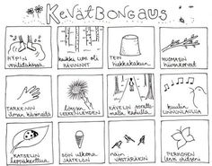Kevätbongauspohja lapsille – Oranssia Teaching Aids, Teaching Kindergarten, Nature Activities, Preschool Activities, Finnish Language, Environmental Education, Spring Art, French Lessons, Early Education
