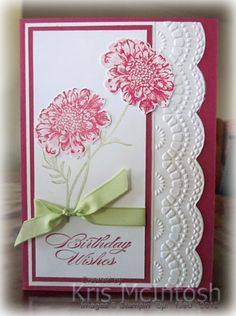 Great use of the large scallop edglit and delicate designs embossing folder.