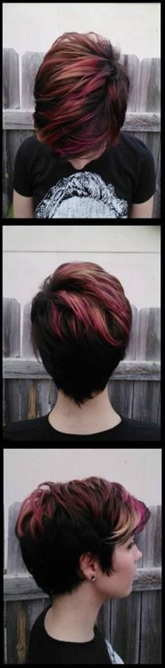 Could do these colors with my current cut - my face can't handle short short.