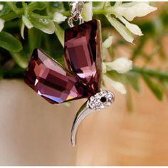 Crystal Pendant Purple - One Size