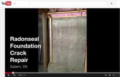 RadonSeal® Customer Feedback. Do-It-Yourselfer Steve from VA repairs a foundation crack in his basement.