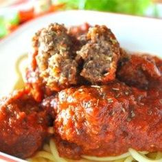 "Meatball Nirvana Recipe - ""These meatballs are a compilation of many, many meatball recipes to finally achieve what I was looking for. Cover with your favorite red sauce and serve with pasta or in crusty garlic bread rolls. Meatball Nirvana Recipe, Meatball Recipes, Meat Recipes, Dinner Recipes, Cooking Recipes, Meatball Soup, Cooking Bacon, Barbecue Recipes, Vegetarian Cooking"