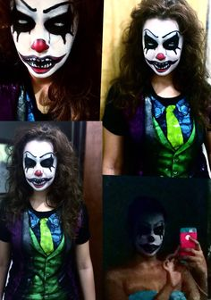 Killer Clown Makeup Tutorial | Easy Scary Clown | 31 Days of ...