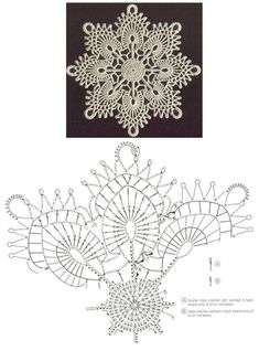 Watch The Video Splendid Crochet a Puff Flower Ideas. Wonderful Crochet a Puff Flower Ideas. Crochet Snowflake Pattern, Crochet Motif Patterns, Crochet Stars, Crochet Snowflakes, Crochet Diagram, Crochet Doilies, Hexagon Pattern, Free Pattern, Crochet Christmas Decorations