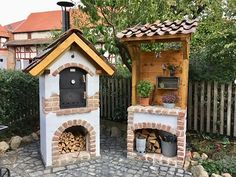Outdoor Kocher, Outdoor Stove, Fake Fireplace, Barbecue Area, Backyard Kitchen, Stove Oven, Country Charm, Grilling, Brick