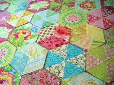 Hexies made of triangles - love it!