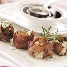GORGONZOLA FIGS WITH BALSAMIC GLAZE http://www.tasteofhome.com/recipes/Gorgonzola-Figs-with-Balsamic-Glaze