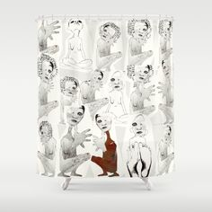 tous et chacun Shower Curtain by Linda Vachon. Worldwide shipping available at…