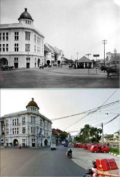Chartered Bank of India, Australia and China aan Kali Besar te  Batavia, circa  1920, ,., Bangunan ex Bank, jl Kali Besar Barat, Jakarta,  2015