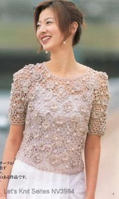 crochet blusa, free pattern