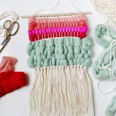 Learn how to weave with wool roving