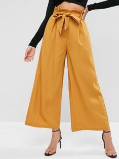 A site with wide selection of trendy fashion style women's clothing, especially swimwear in all kinds which costs at an affordable price. Trousers Women, Pants For Women, Clothes For Women, Jumper Outfit, Fashion Pants, Pop Fashion, Trendy Fashion, Fashion Trends, Paperbag Pants